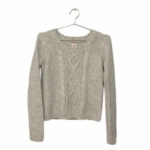 Mossimo Supply Beige Cable Knit Pullover Sweater